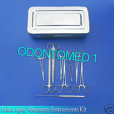 Spay Kit Veterinary Surgical Instruments High Quality Stainless Steel 19 Pcs