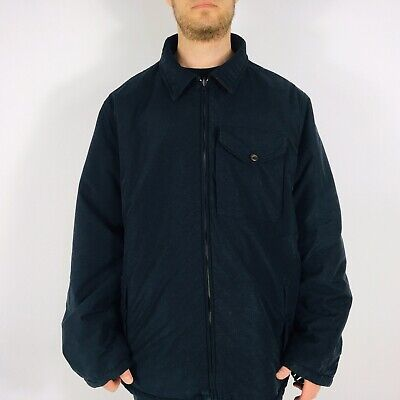 Nautica Men's XXL Navy/Grey Reversible Wool Cotton Coat Jacket