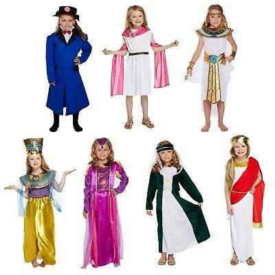 Girls Fancy Dress Up Child Costume Egyptian Roman Greek Victorian Tudor Age 4-12](Kids Victorian Dress Up)