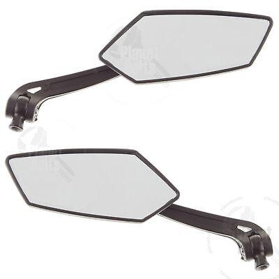 Black Hawk Rear View Mirror Universal 8mm 10mm Hand Side Back Set Left Right