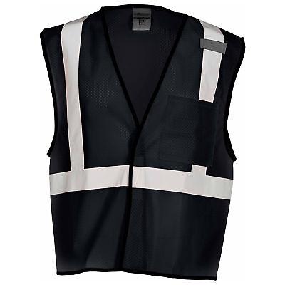 ML Kishigo Non-ANSI Reflective Mesh Safety Vest with Pocket, Black