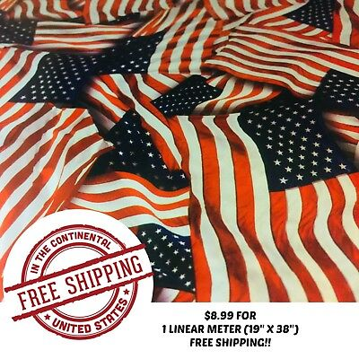 Hydrographic Water Transfer Hydro Dipping Dip Film American Pride 1m 19x38