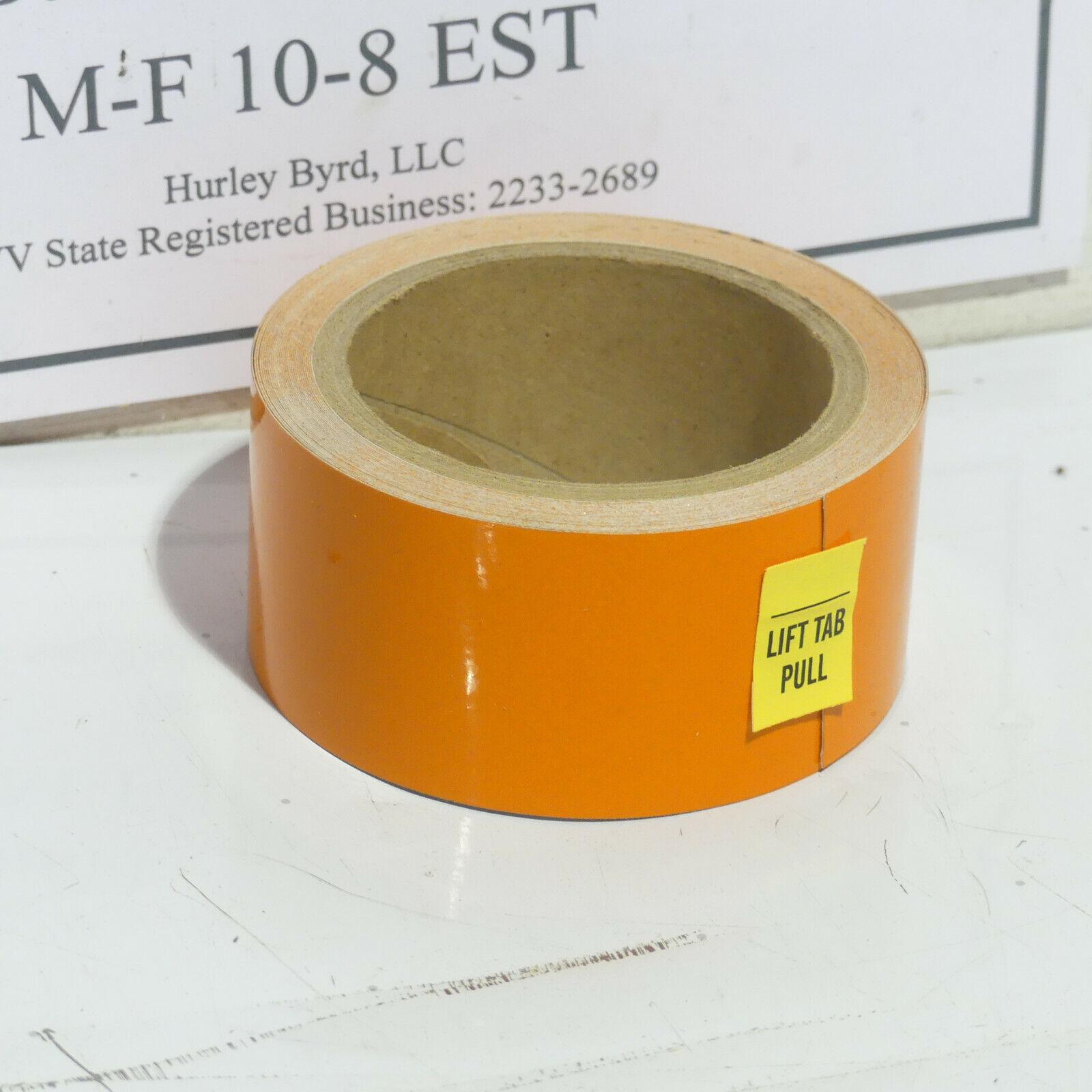 "2"" x 30' Solid Orange Brady Industrial Reflective Tape Peel"