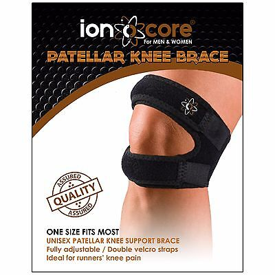 Patellar knee support strap brace with open patella from official ionocore®.