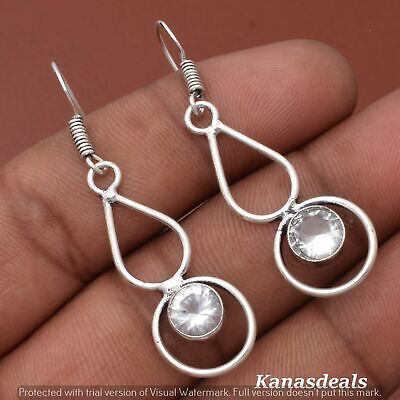 Thanksgiving Gift 3.5 Gm Zircon 925 Sterling Silver Plated Earring ER-28313