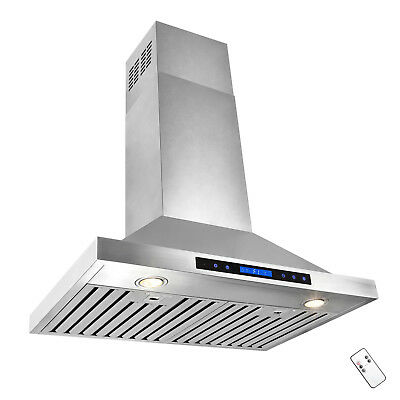 """30"""" European Stainless Steel Wall Mount Range Hood Stove Vent Touch Control"""