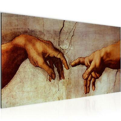 WANDBILDER XXL BILDER Creation of Adam MichelAngelo VLIES LEINWAND BILD KUNSTDRU - Adams Wand