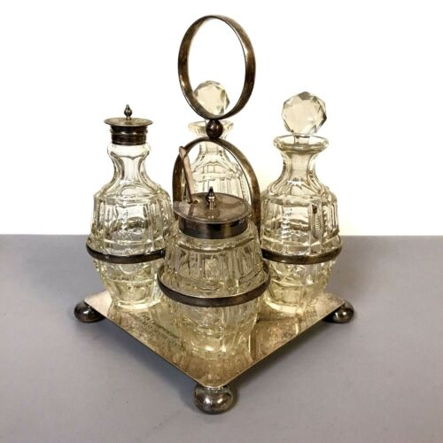 Cruet Silverplated Serving Tray Oil Vinegar Fairfield Westchester Counties