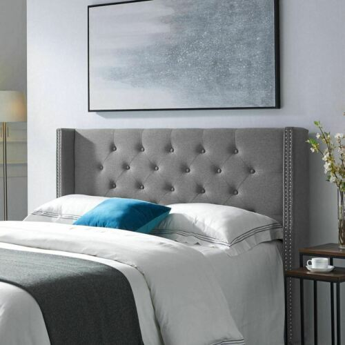 Debby Contemporary Upholstered Queen/Full Headboard Beds & Mattresses