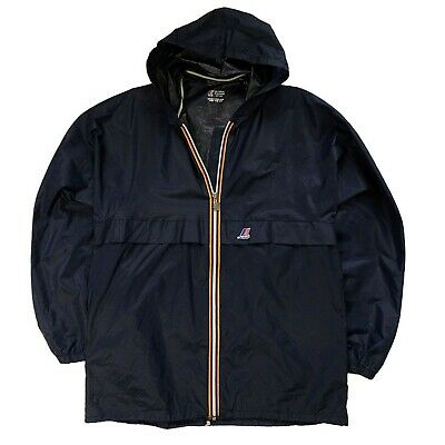 Vintage K-Way Jacket Windproof Waterproof Size: 7 Men's Navy