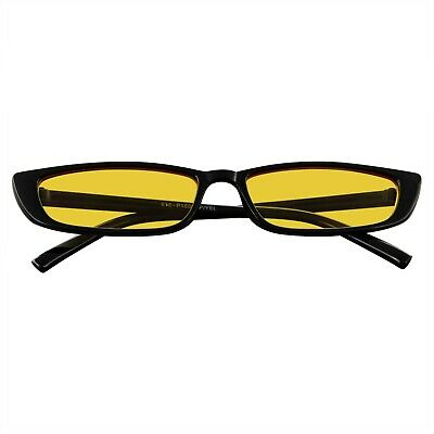 Dünn Rechteckige Sonnenbrille Herren Damen Mode Farbe Klang Skinny Rahmen