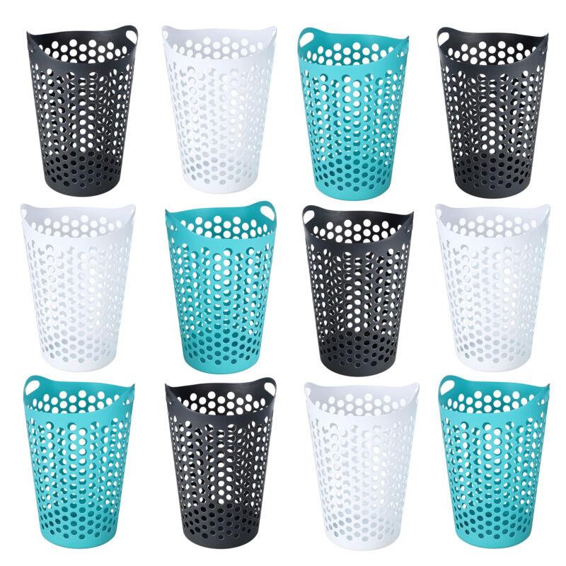 Ezy Storage Flexi 15 Gallon Plastic Flex Laundry Basket Clothes Hamper (12 Pack)