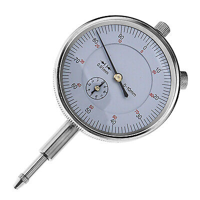 Precision Dial Test Indicator Gauge 0-10mm Graduation 0.01mm Level Scale