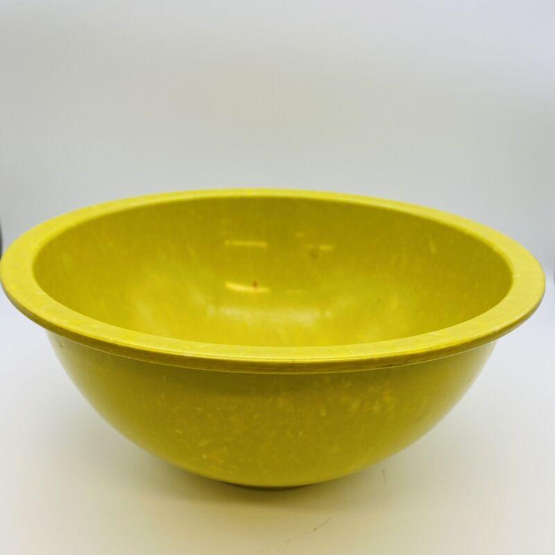 "10"" Yellow Green Texas Ware 125 Mixing Bowl Confetti Splatter Melmac Melamine"