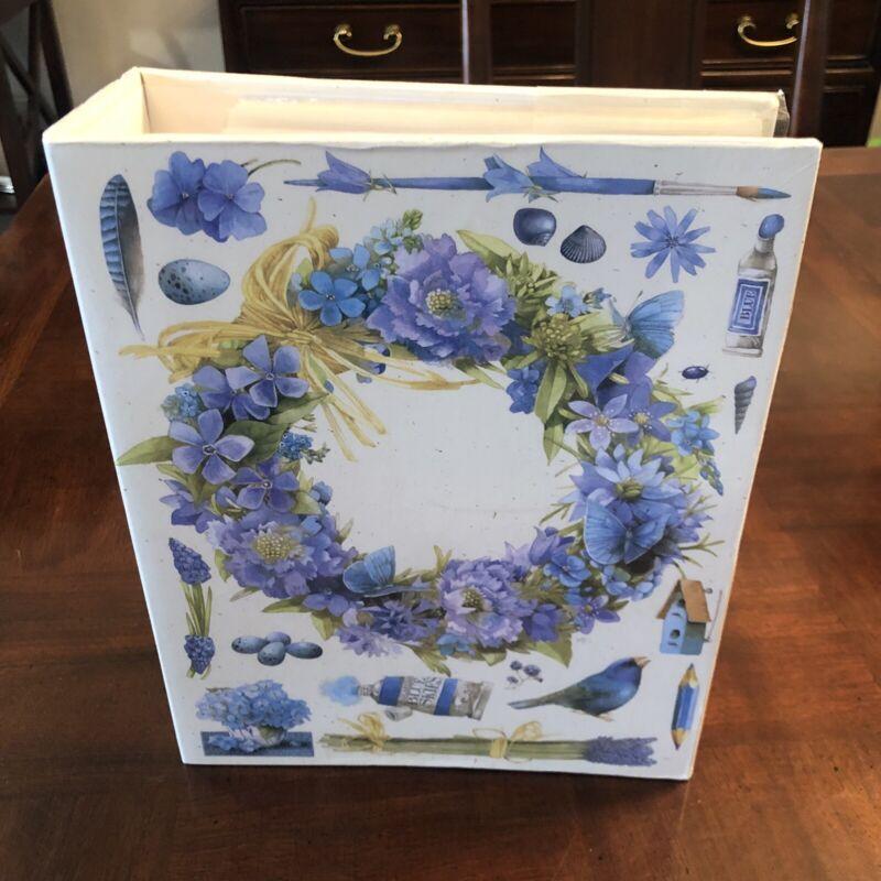 Marjolein Bastin Hallmark Photo Album Blue Birds & Flowers Holds 400 - NEW!