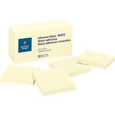 Sticky Notes 3 X 3 Yellow 100 Sheetspad 12 Pads
