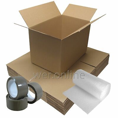 ECONOMY 20 x LARGE SINGLE WALL Cardboard House Moving Boxes -Removal Packing box