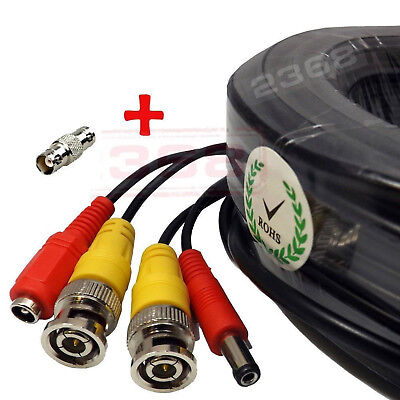 High Quality Video Power BNC RCA Cable for Night Owl CCTV Security Cameras 100ft