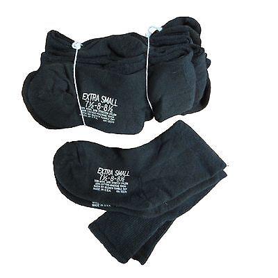 108 Pr Blk US Military Wool Blend Cushion Sole Socks Fit to Man Sz 7.5 Woman 8.5