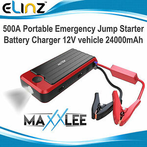 500A Car Vehicle Portable Emergency Jump Starter & Battery Charger 12V 24000mAh