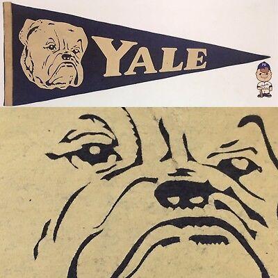 1940 Yale Bulldogs New Haven University Ivy League 10.75x28 Vintage Pennant Conn for sale  Lafayette