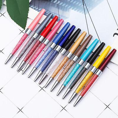 12x Bling Crystal Diamond Pen Ballpoint Pens Fine Black Ink Ball Point Pen