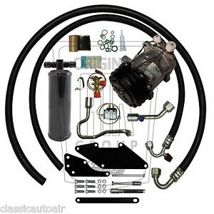 67-69 CHARGER SMALL BLOCK AC COMPRESSOR UPGRADE KIT A/C Air Conditioning STAGE 1