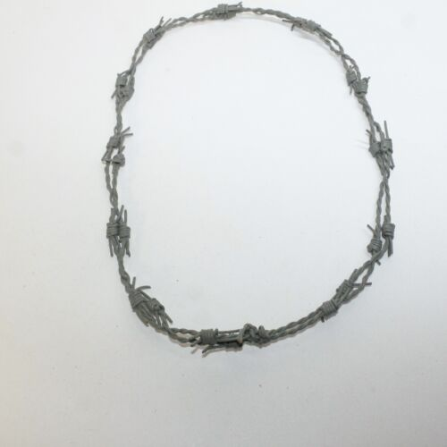 1 Leather Barbed Wire Necklace Gray Colored   #9415  Bracelet Hat Band