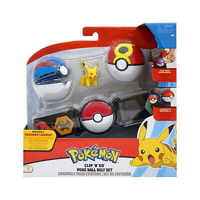Wicket Cool Toys Pokemon Clip N Go Pikachu Poke Ball Belt Set NEW IN STOCK