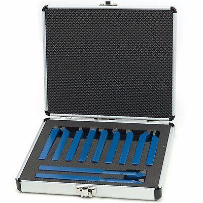 Drehstahl Satz 11-tlg 10x10 mm Drehmeißel Set im praktischer Alukoffer FT011010