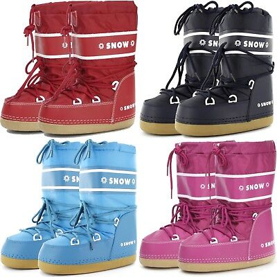 Snowboots Winterstiefel Kinder Schneestiefel Moonboots Boots Winterschuh - Kinder Schuh Stiefel
