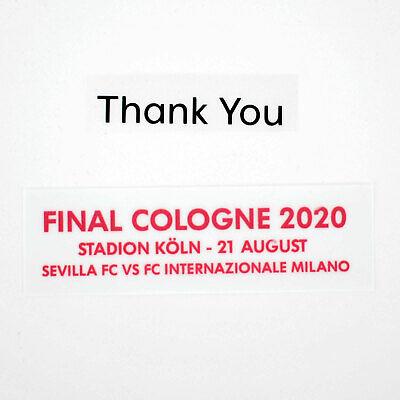 Sevilla Final Europa League 2020 MDT Cologne vs Inter Set for Shirt...
