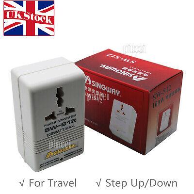110V 120V to 220V 240V Step Up/ Down Voltage Converter Transformer Travel UK