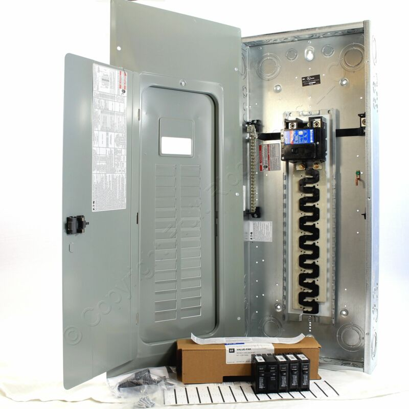Eaton BR3040B200V5 Cutler-Hammer BR 30-Space Main Panel w/4 Breakers 200A
