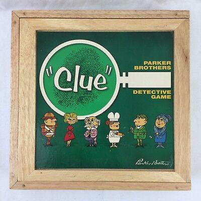 Milton Bradley Clue - Clue Nostalgia Games Series Wooden Box Milton Bradley 2002 COMPLETE