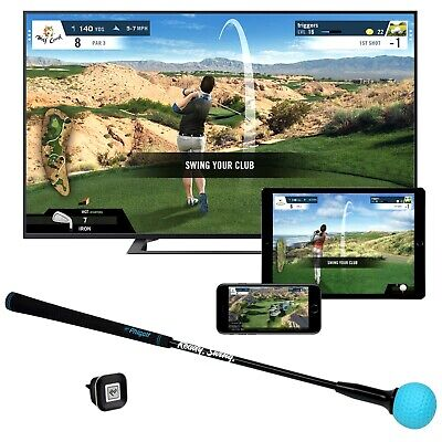 Phigolf Mobile and Home Smart Golf Game Simulator with Swing Stick WGT Edition Golf Simulation Game