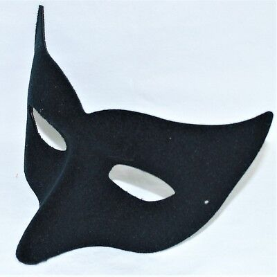 Black Wolf Mask Halloween Fancy Dress Costume Mens Large Masquerade Ball Mask