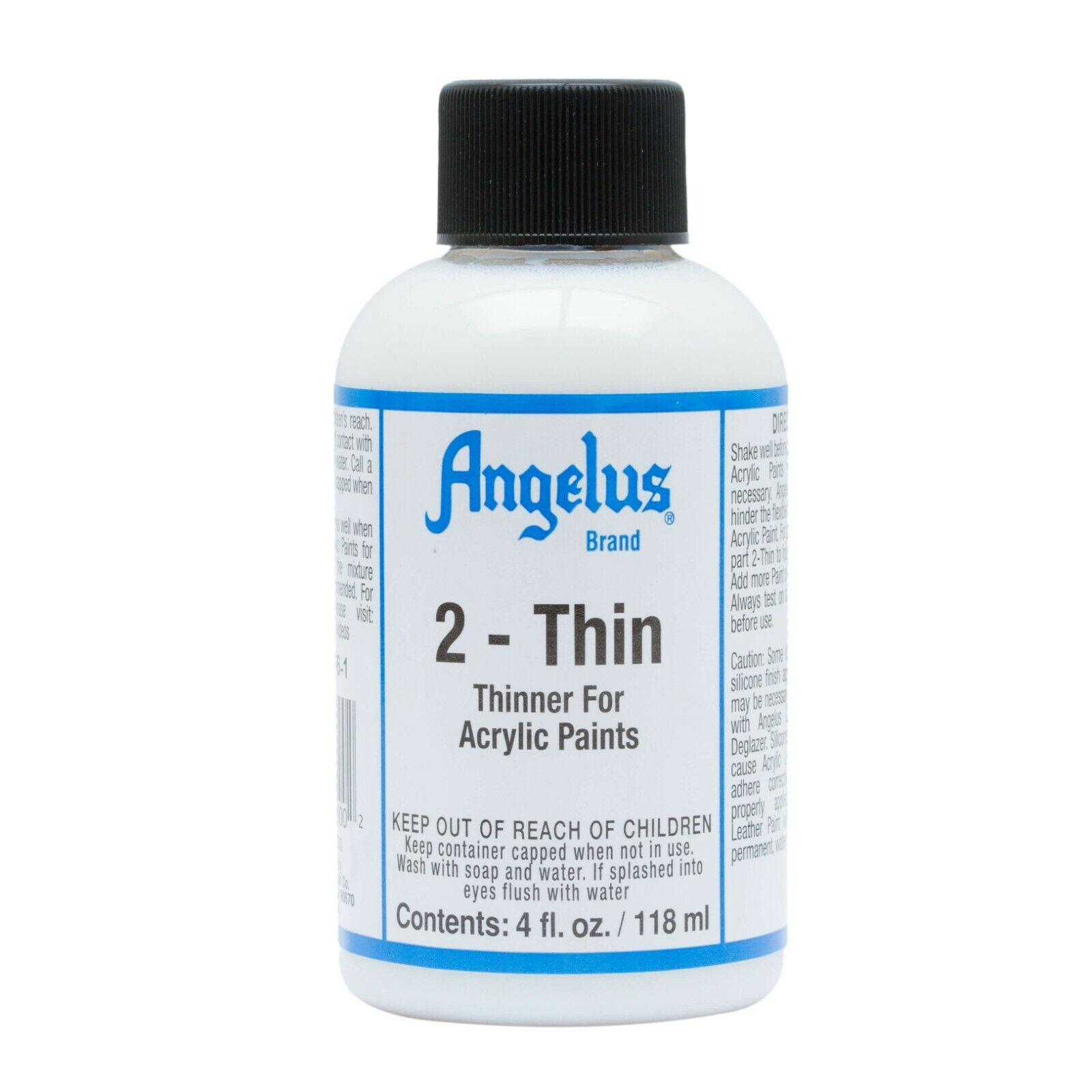Angelus 2-thin Paint thinner for acrylic paints 4oz NEW Crafts