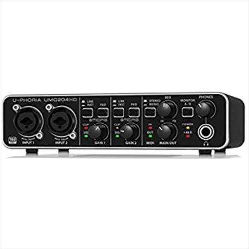 BEHRINGER UMC204HD 24-Bit/192kHz USB audio interface JAPAN NEW F/S