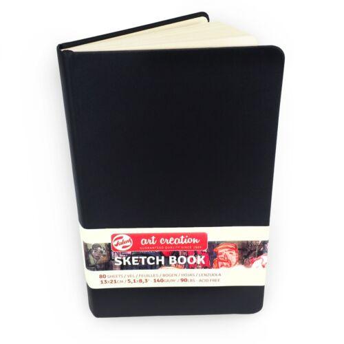Royal Talens – Art Creation Hardback Sketchbook – 80 Sheets – 13 x 21cm - Black