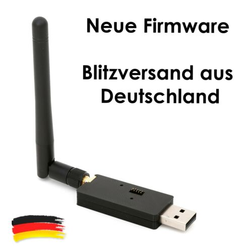CC2531  ZigBee USB-Sick zigbee2mqtt ioBroker FHEM openHAB SMA Antenne + Firmware