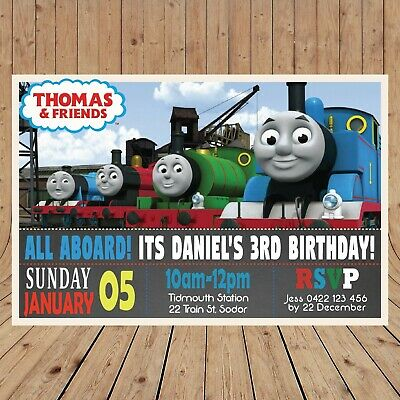 TRAIN Kids Party Invitation Invites DIGITAL - YOU PRINT -  (Thomas Party)