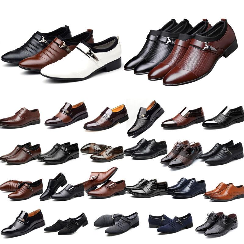 Herrenschuhe Business Formal Schuhe Klassische Hochzeit Anzug Spitze Halbschuhe