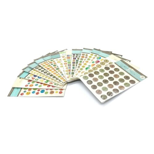 K & Co Alphabet Dome Stickers Scrapbooking Embellishment Letters New PICK ONE