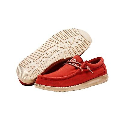Hey Dude Shoes | Wally Red UK 7/8/9/10/11/12 | 100% GENUINE | Free Delivery