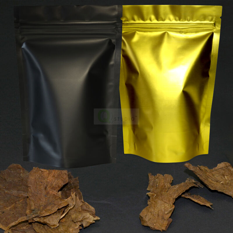 QQ Studio Stand up Resealable Packaging Bags for Tobacco and Nicotine Products