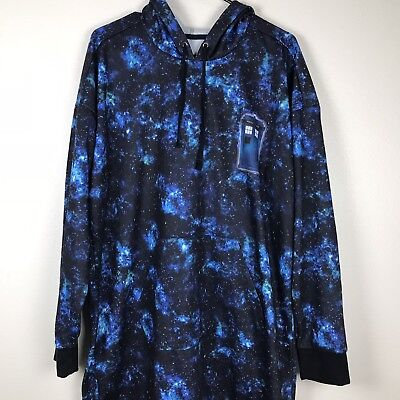 Hot Topic Her Universe Doctor Who Galaxy Tardis Hoodie Dress 2X Blue P26