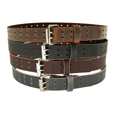Buffalo Leather Belt, Double Prong_2 Hole_1 1/2