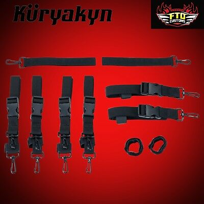 Kuryakyn Black Universal Premium Luggage Strap Kit 5163