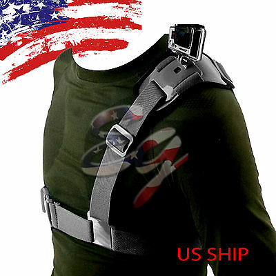 Universal Single Shoulder Strap Mount Chest Harness Belt Travel For GoPro 2 3 4